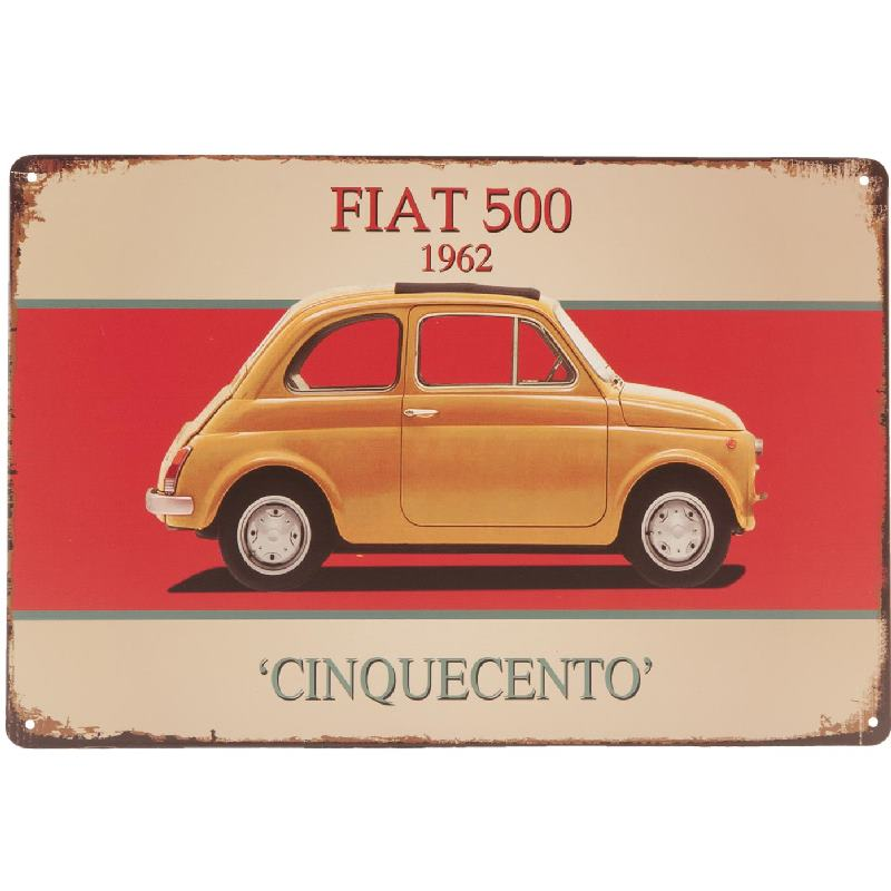 Auto motor scooter for Decoration murale fiat 500