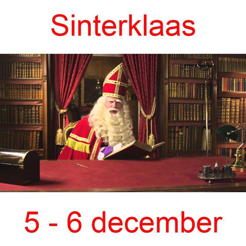 5 - 6 december Sinterklaas
