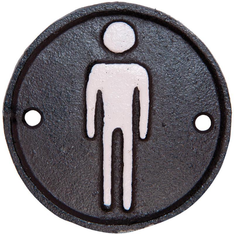 Gents gietijzer bordje voor heren toilet - Originele toiletdecoratie ...